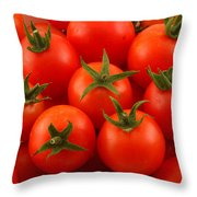 Cherry Tomatoes Fine Art Food Photography Throw Pillow