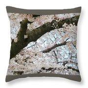 Cherry Tree In Bloom Throw Pillow