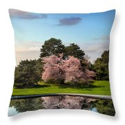 Cherry Tree Reflections Throw Pillow