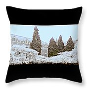 Cherry Trees Full Bloom Throw Pillow