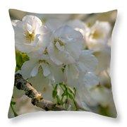 Cherryblossom Flowers 2 Throw Pillow