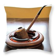 Cherrywood Freehand Pipe Throw Pillow