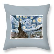 Cher's Stary Night Throw Pillow