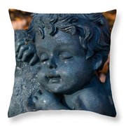 Cherub Sleeping Throw Pillow