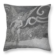 Cherub Stone Graffiti 2 Throw Pillow