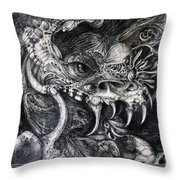 Cherubim Of Beasties Throw Pillow