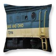Chesapeake And Ohio Boxcar  Throw Pillow