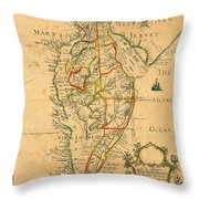Chesapeake Bay 1786 Throw Pillow