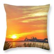 Chesapeake Bay Bridge Sunset Throw Pillow