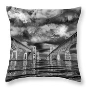 Chesapeake Bay Bw Throw Pillow
