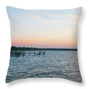 Chesapeake Bay - Piney Point Maryland Throw Pillow