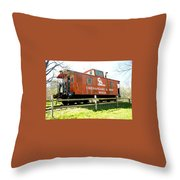 Chesapeake -ohio Rr Throw Pillow