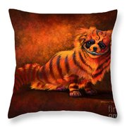 Cheshire Canine Throw Pillow
