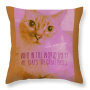 Cheshire Cat Quote Throw Pillow