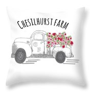 Chesilhurst Farm Throw Pillow