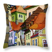 Chesky Krumlov Masna Street 1 Throw Pillow