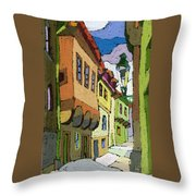 Chesky Krumlov Street Nove Mesto Throw Pillow by Yuriy  Shevchuk