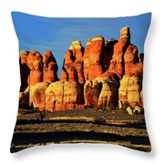 Chesler Park Sandstone Towers Throw Pillow