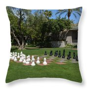 Chess At The Biltmore Throw Pillow