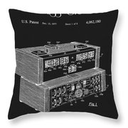 Chess Clock Patent Throw Pillow