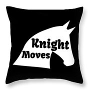 Chess Player Gift Knight Moves Horse Lover Chess Lover Throw Pillow