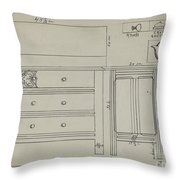 Chest Of Drawers Throw Pillow