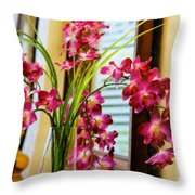 Chester House Flowers Throw Pillow