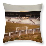 Chester - Sealand Road - Main Stand 2 - 1979 Throw Pillow