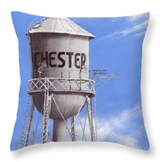 Chester Water Tower Ne Throw Pillow
