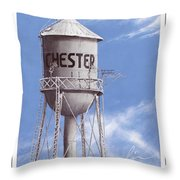 Chester Water Tower Poster Throw Pillow