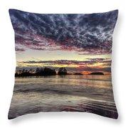 Chesterman Beach Sunset Throw Pillow