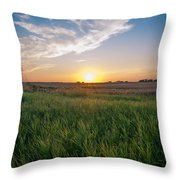 Chestermere Sunset Throw Pillow by Adnan Bhatti