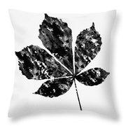 Chestnut Leaf Throw Pillow