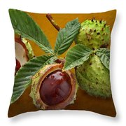 Chestnuts 3 Throw Pillow