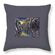 Chevlon Canyon Owl Throw Pillow