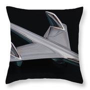 Chevrolet Bel Air Hood Ornament Throw Pillow