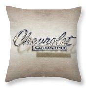 Chevrolet Camaro Badge Throw Pillow