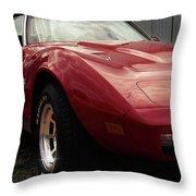 Chevrolet Corvette 1977 Throw Pillow