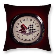 Chevrolet Corvette, Corvette Logo Throw Pillow
