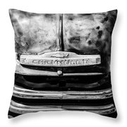 Chevrolet Truck Grille Emblem -0839bw1 Throw Pillow