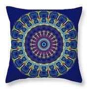 Chevrons II Mandala Throw Pillow