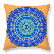 Chevrons Mandala Throw Pillow