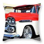 Chevy Apache Custom Hot Rod Truck Throw Pillow
