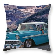 Chevy At Lake Louise Throw Pillow