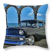 Chevy Belair In Mexico Throw Pillow