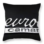 Chevy Camaro Emblem Throw Pillow