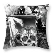 Chevy Decor Day Of Dead Bw Throw Pillow