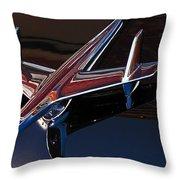 Chevy Hood Ornament Throw Pillow