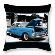 Chevy Love 1956 Throw Pillow