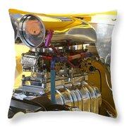 Chevy Motor Throw Pillow